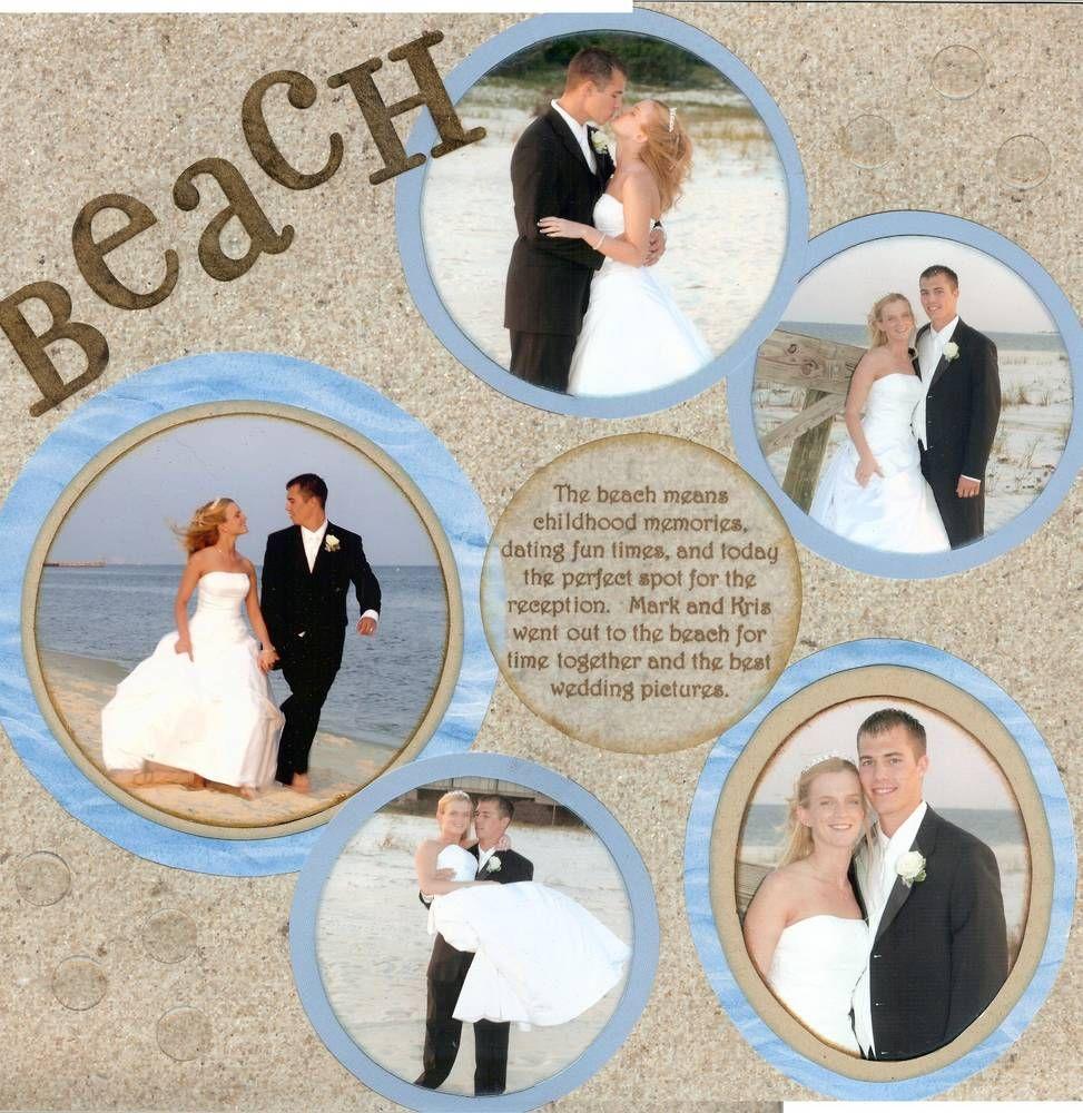 Beach wedding scrapbook scrap booking pinterest beach