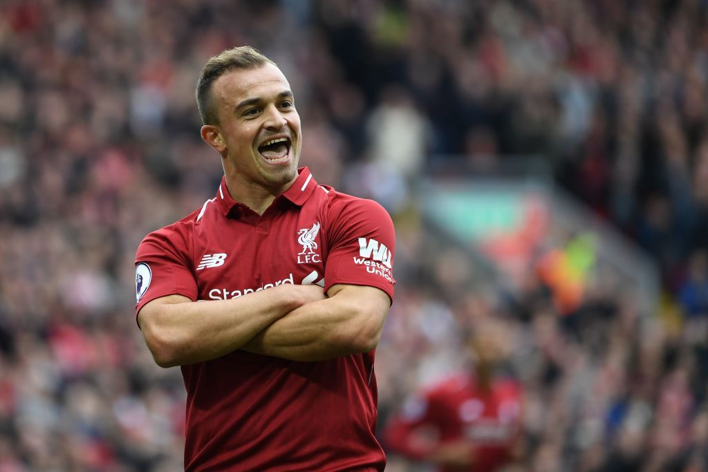 What Jurgen Klopp Told Xherdan Shaqiri After Hauling Him Off At Half Time Liverpool Football Club Players Liverpool Football Club Liverpool