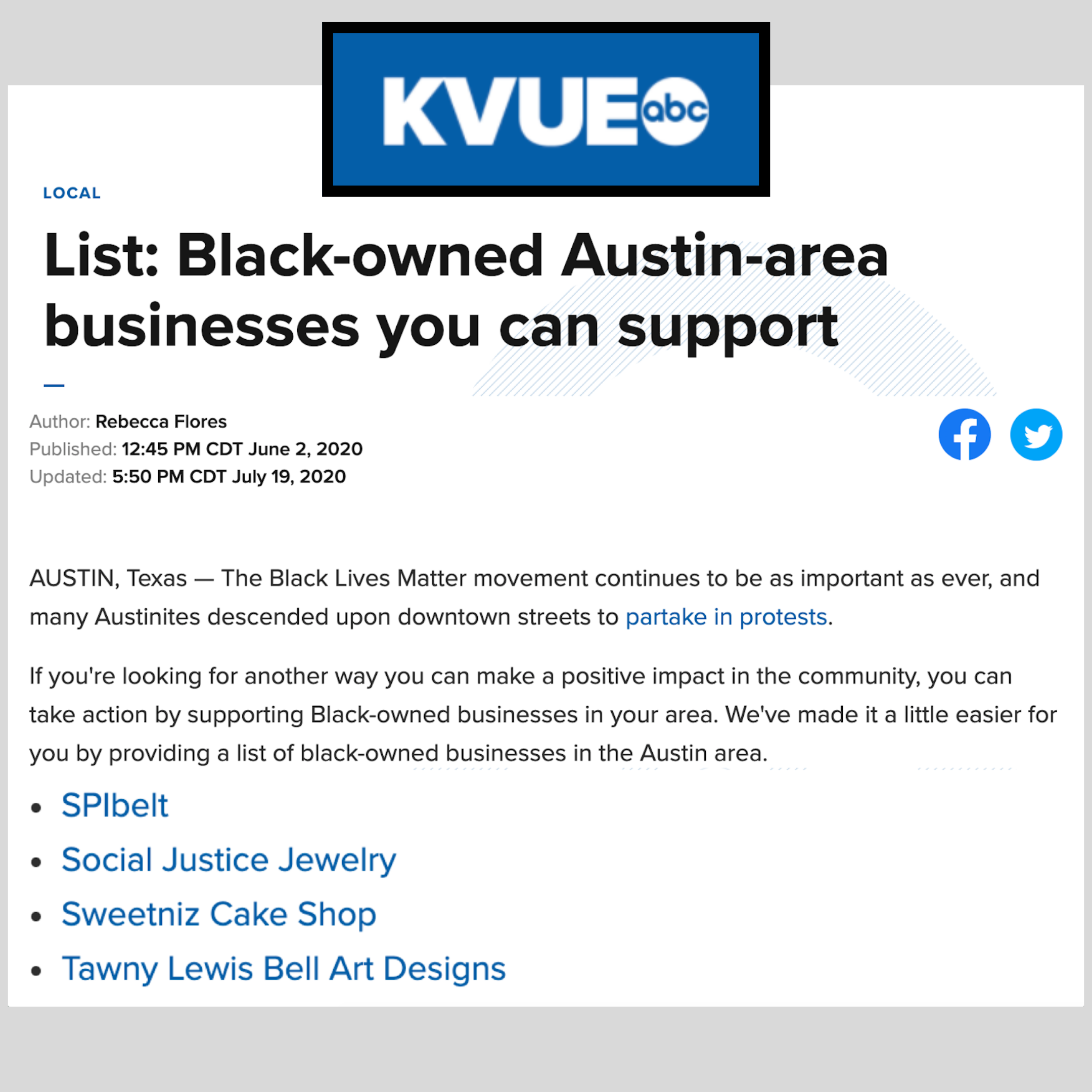 List Black Owned Austin Area Businesses You Can Support Supportive Black Lives Matter Movement Austin