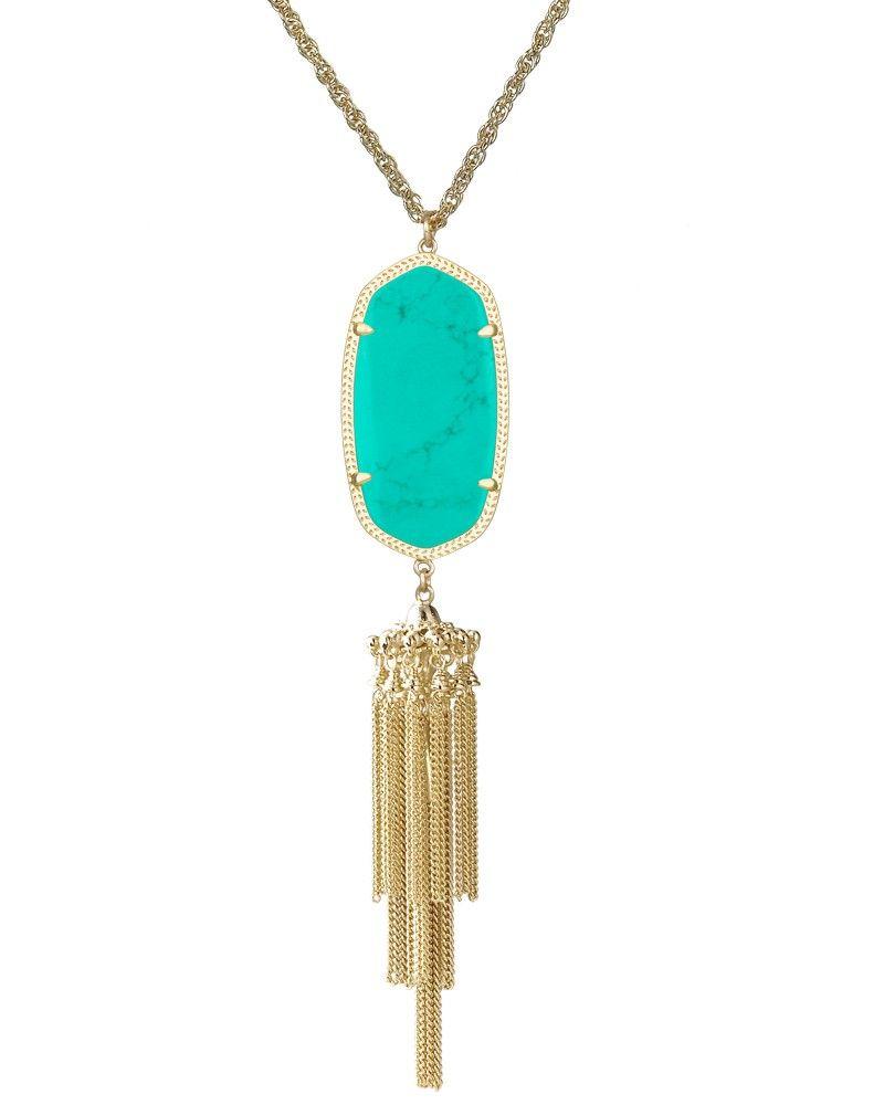 Rayne necklace in teal kendra scott jewelry wish list