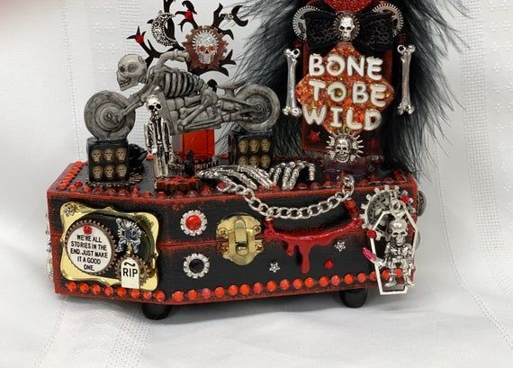 Photo of Gothic Jewelry Box Goth Coffin Decor Halloween Coffin Decor image 3 Gothic jewel…