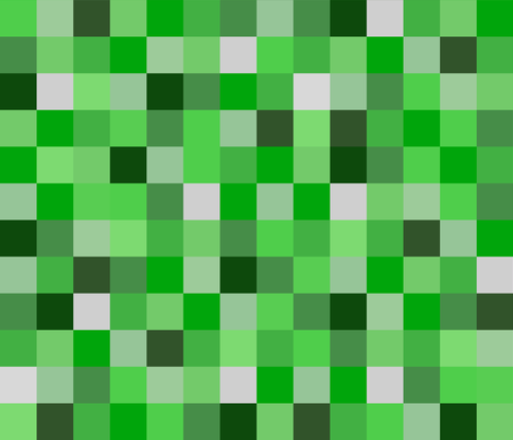 8-bit Green Pixels - Darker Greens fabric by joyfulrose on