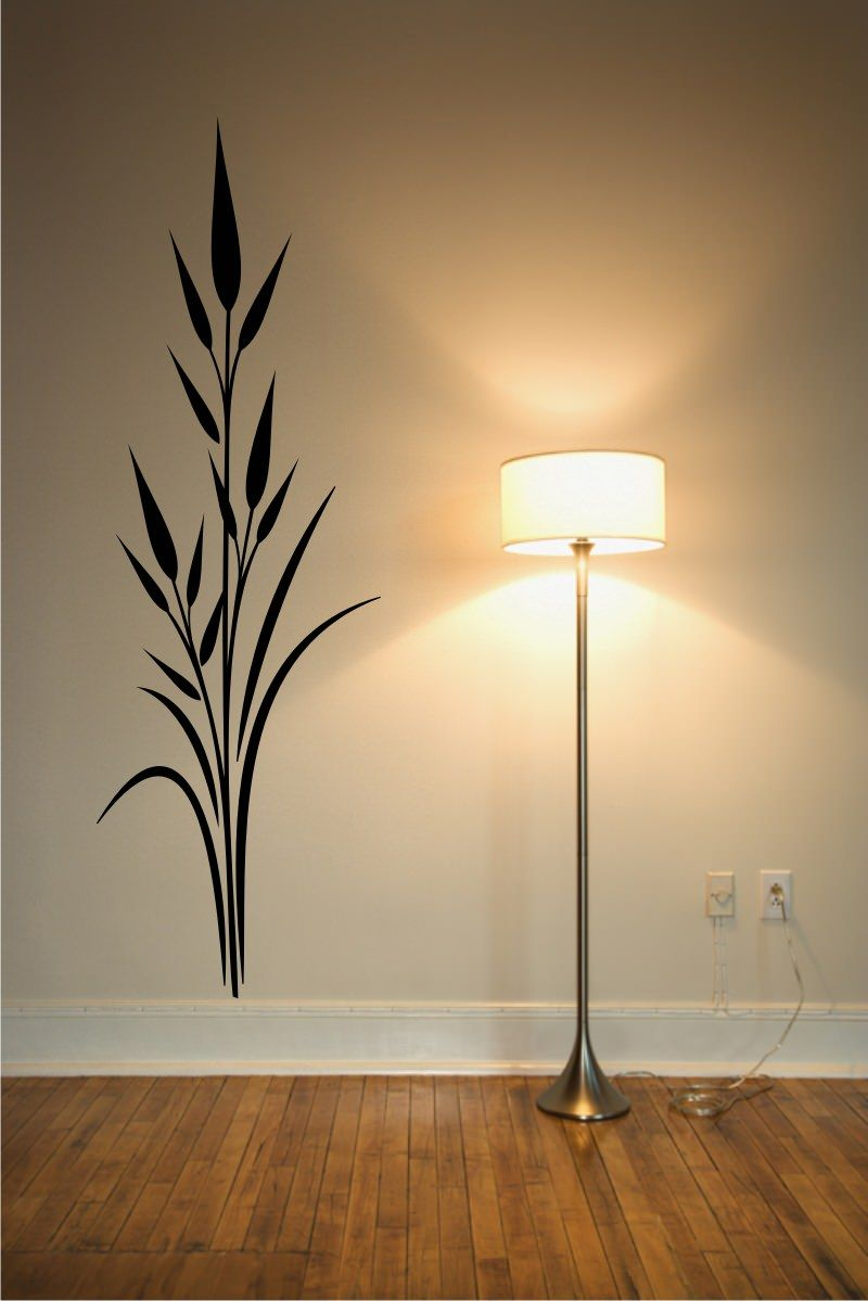 Stickonmania Com Vinyl Wall Decals Plant Design 11 Sticker Simple Wall Paintings Wall Painting Decor Creative Wall Painting