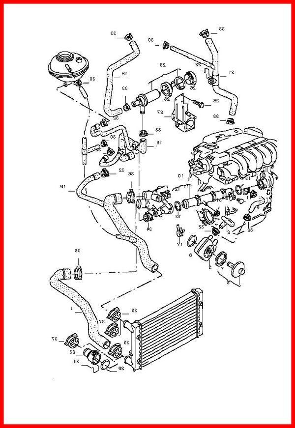 2001 Vw Jetta Radiator Hose Diagram In 2020