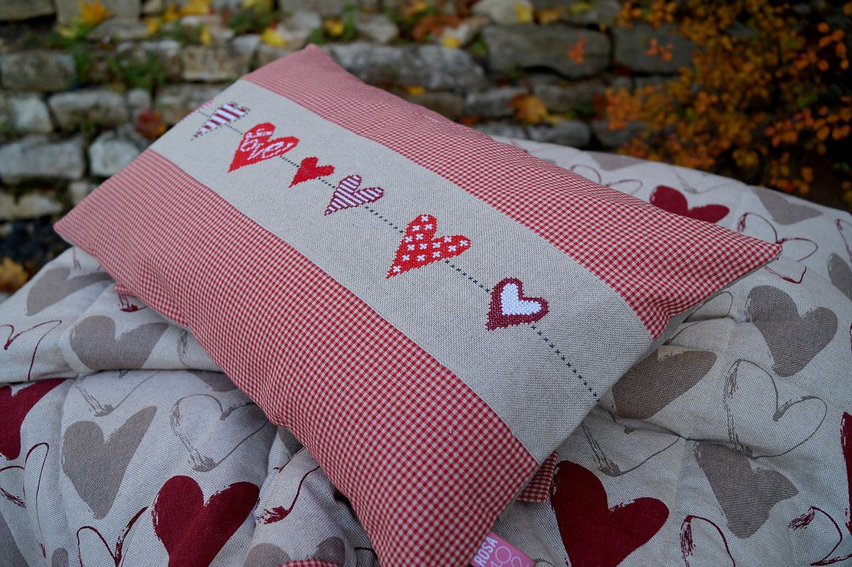 Kissen Love Kreuzstich Kissen Handgefertigt