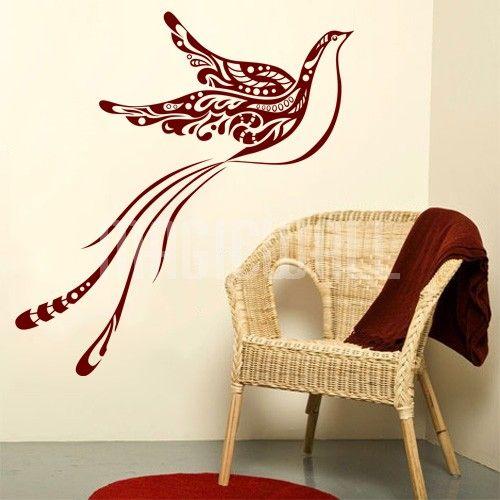 Bird Wall Decals | Home » Elegant Flying Bird   Wall Decals Stickers  #birdwalldecals # Part 36