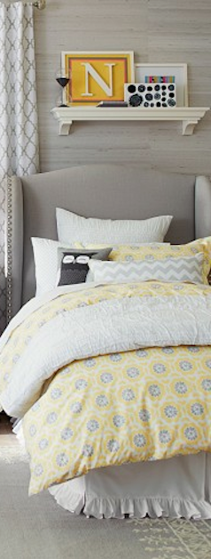 #yellow and #grey kids bedding http://rstyle.me/n/ecg4wr9te