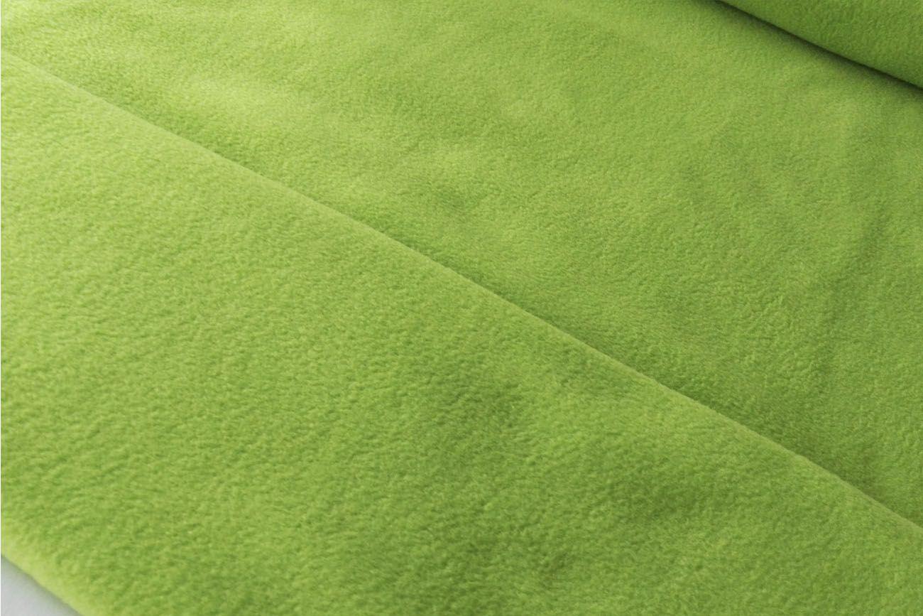 Tela de polar para mantas de color verde pistacho. El polar es una