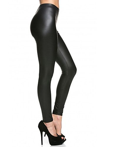 d0d5dfafd3a3a4 8.99] Women's Dailywear Sexy Basic Legging - Solid Colored Mid Waist ...