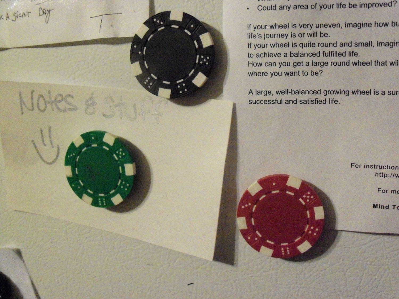 Poker Chip Magnets - DIY