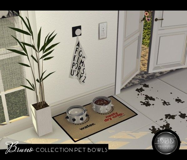 Sims 4 Designs: Bruno Collection Pet Bowls • Sims 4