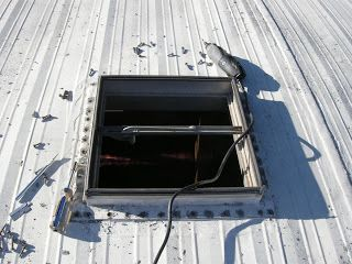 Outside Of The Bubble Replacing The Roof Vent On The