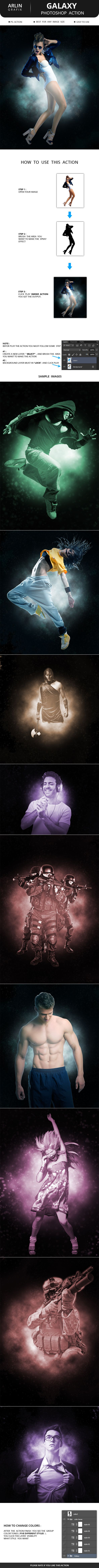 Galaxy Photoshop Action