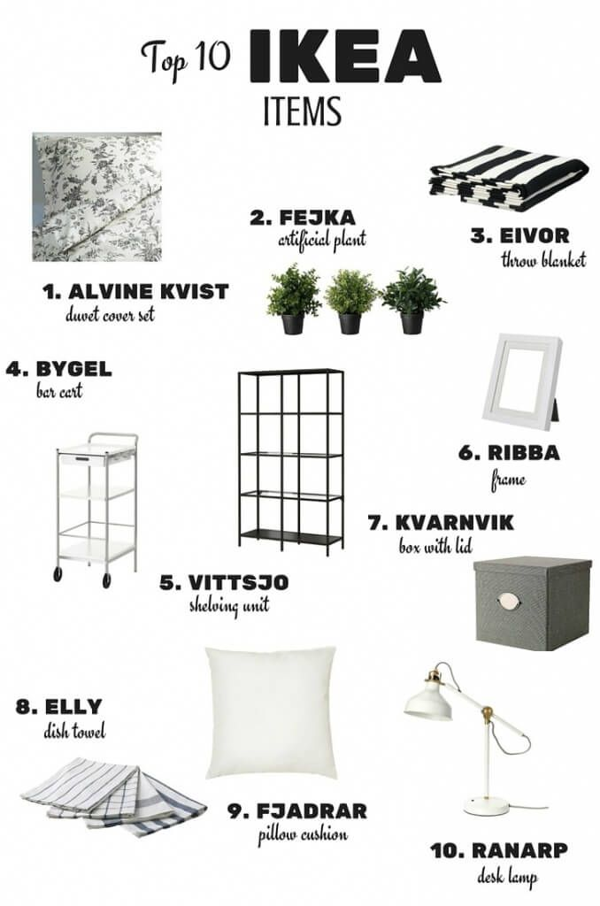 Top 10 IKEA Items To Decorate Your Home On A Budget!