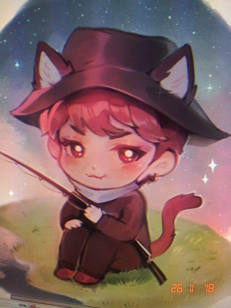 Yoongi cute fanart / Credits to Twitter/krizless © Yoongi