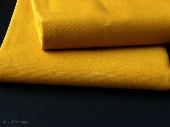 12 Yard Waxed Cotton Canvas Fabric Marigold By Alfrancesdesigns