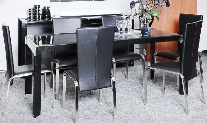 Carol Dining set | informa.co.id | Black collection - chic & modern ...