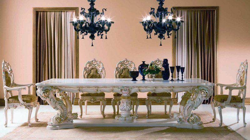 Salle à manger baroque dans un intérieur contemporain ! Salons - lustres salle a manger