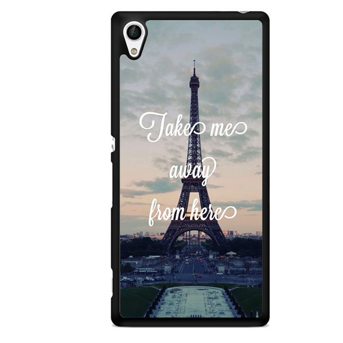 Take Me Away From Paris TATUM-10438 Sony Phonecase Cover For Xperia Z1, Xperia Z2, Xperia Z3, Xperia Z4, Xperia Z5