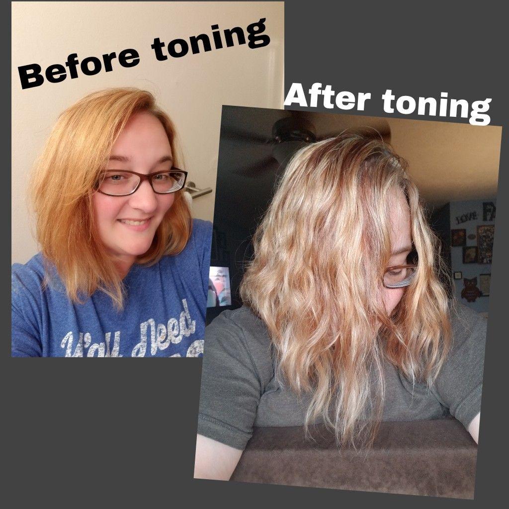 The Power Of Purple Shampoo I Used Equate Brand Purple Shampoo Comparable To Shimmer Lights I Applied It To My Hair While I Purple Shampoo Hair Color Hair