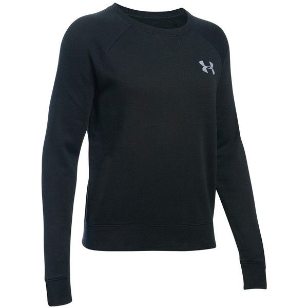 Under Armour Favourite Fleece Crew Sweatshirt, Black ($47) ❤ liked on Polyvore featuring tops, hoodies, sweatshirts, crewneck sweatshirt, under armour, crew-neck sweatshirts, raglan top and fleece tops
