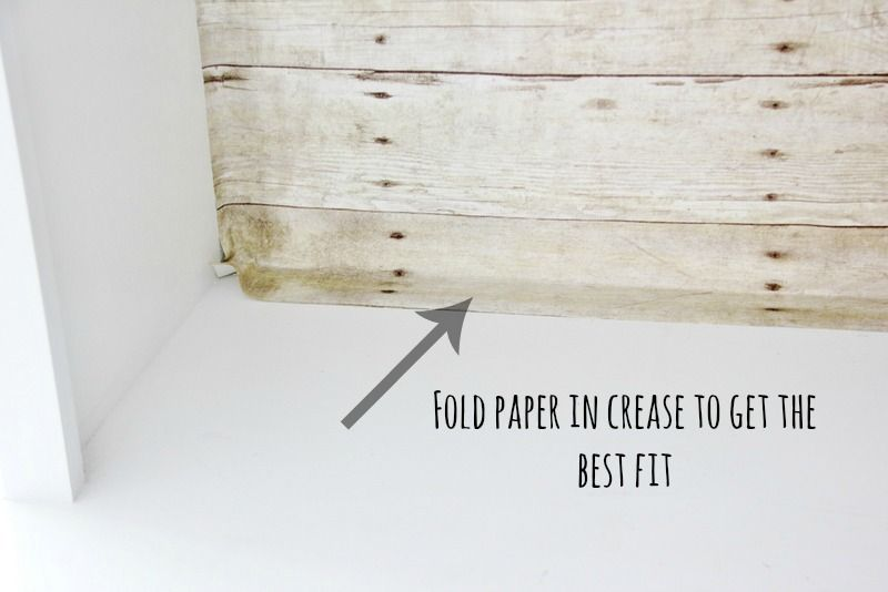 Faux Wood Wallpaper Diy Papering Bookshelf Wall