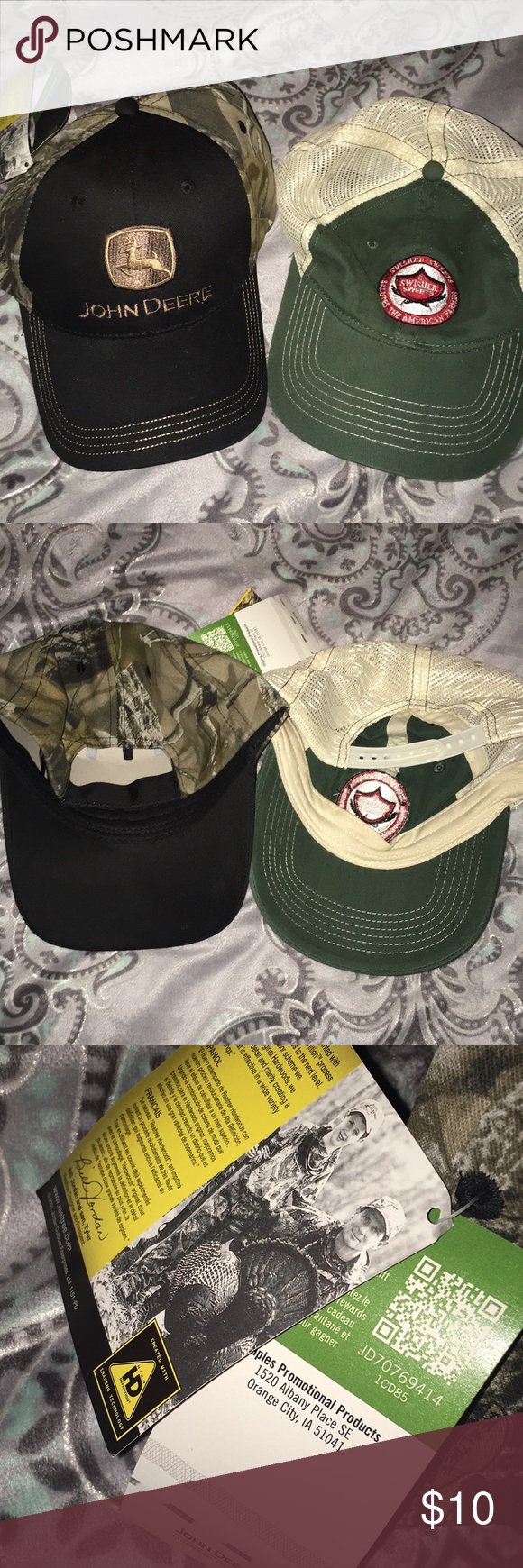 00bbc867149 John Deere Hat 🦌 Brand new never worn. Camo John Deer hat with extra  swisher