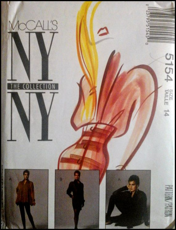 McCall's NY NY Collection 5154   Misses' Lined by ThePatternShopp