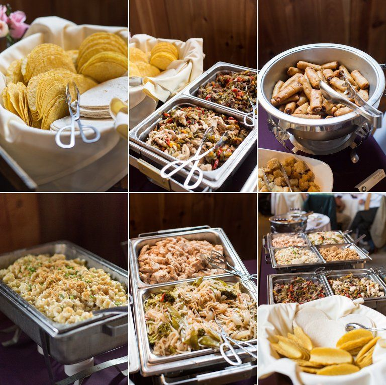 Summer Wedding at Bellevue Barn Wedding catering buffet