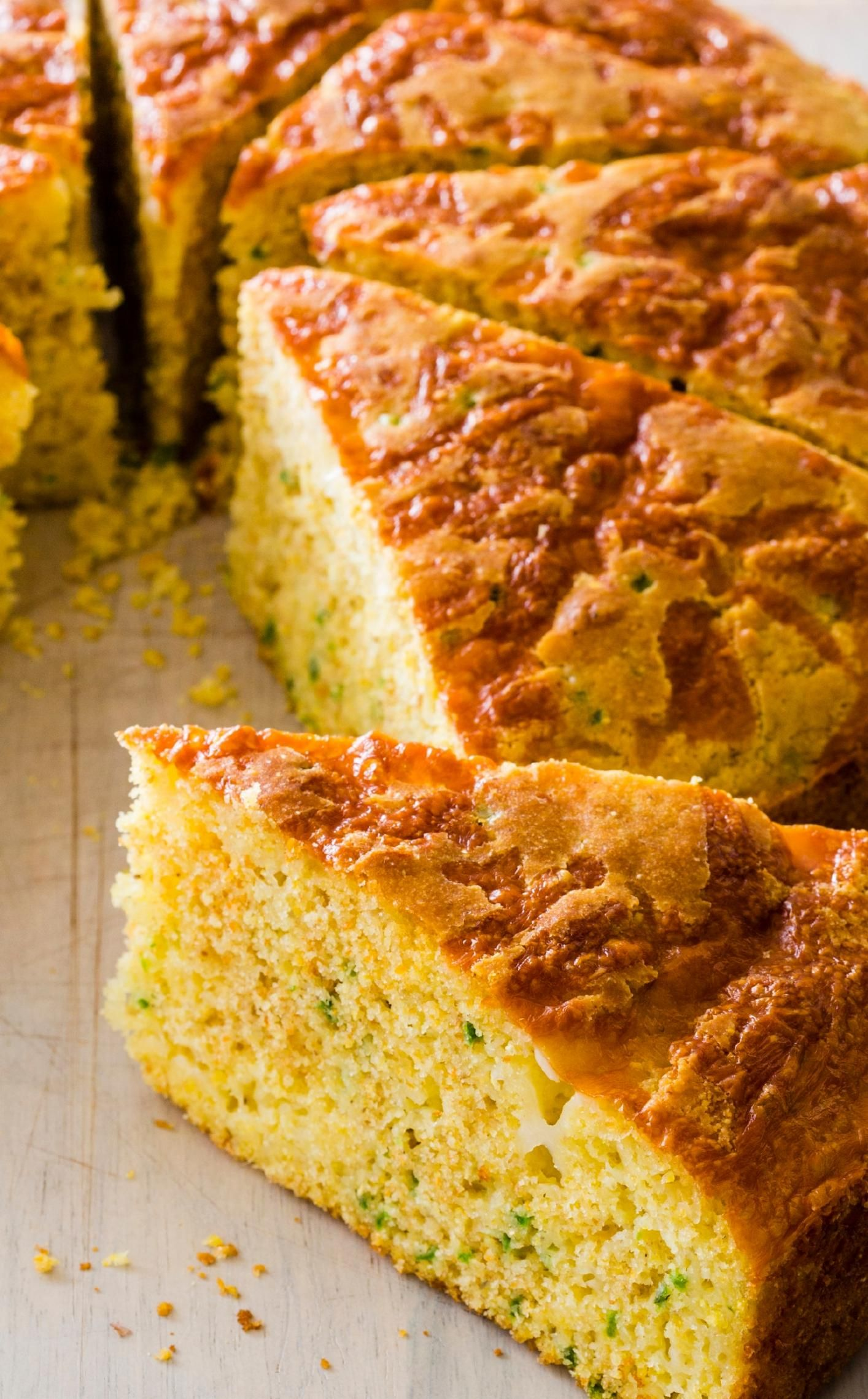 jalapeñocheddar cornbread we used cornmeal and flour to