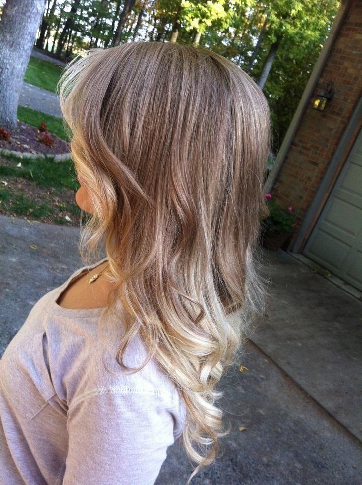 Very subtle ombré on light dirty blonde hair to bleach ...
