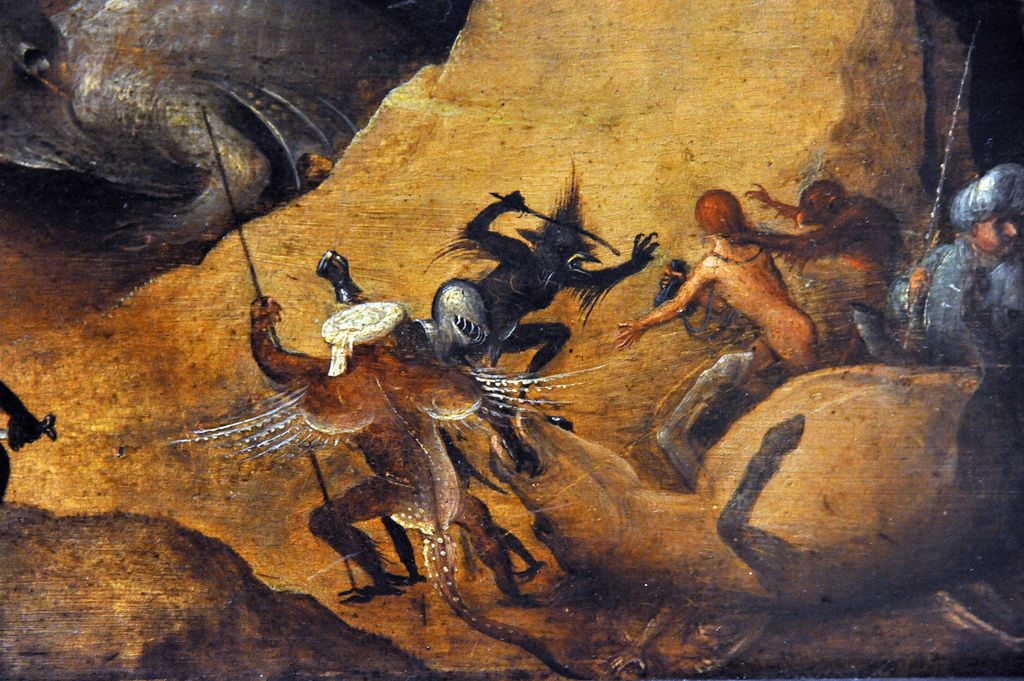 Christ's Descent into Hell Style of Hieronymus Bosch (Netherlandish, about 1550–60), detail. MET NYC