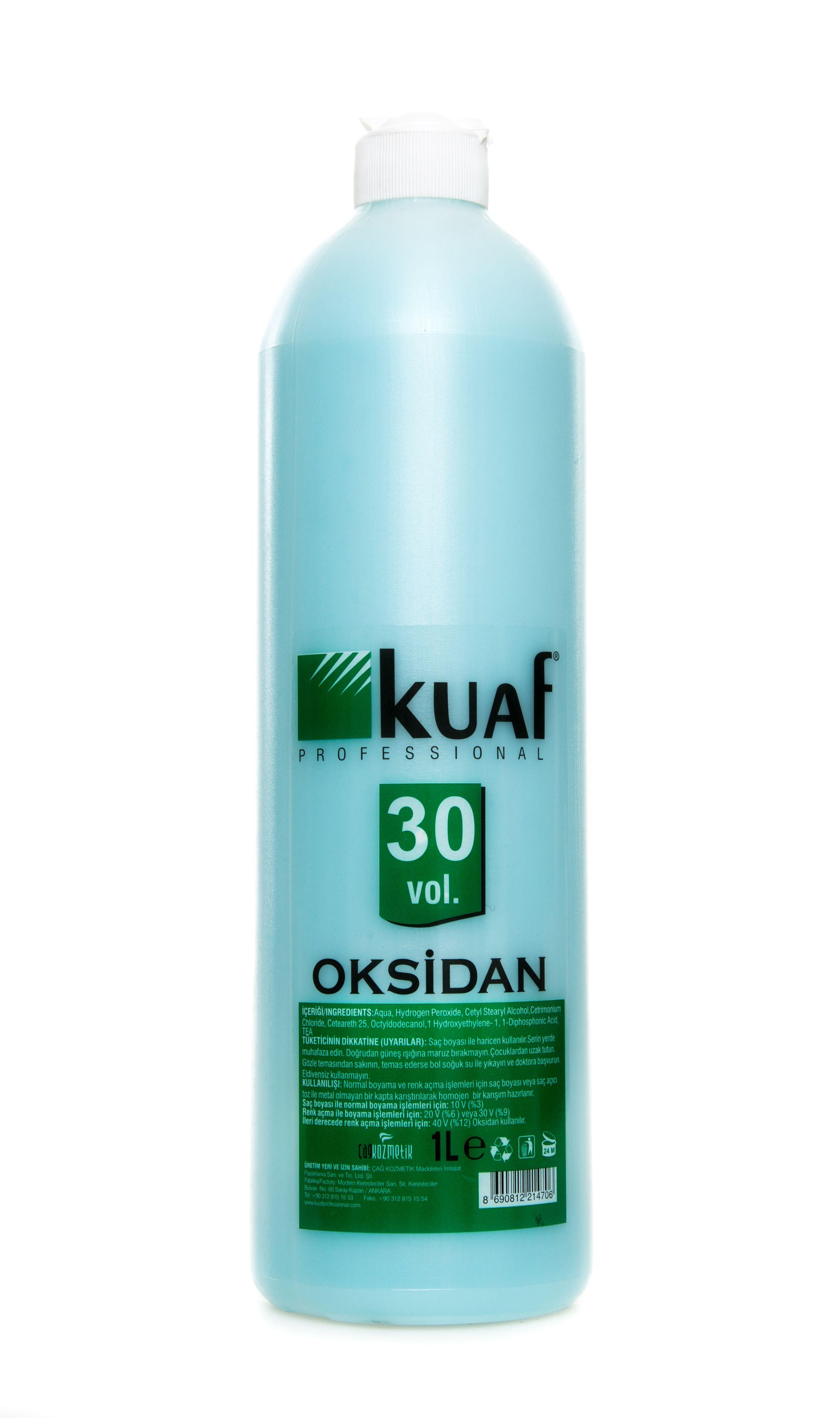 Kuaf Mavi Oksidan 30 Vol 1 Lt Benzersiz Krem Formulu Ile