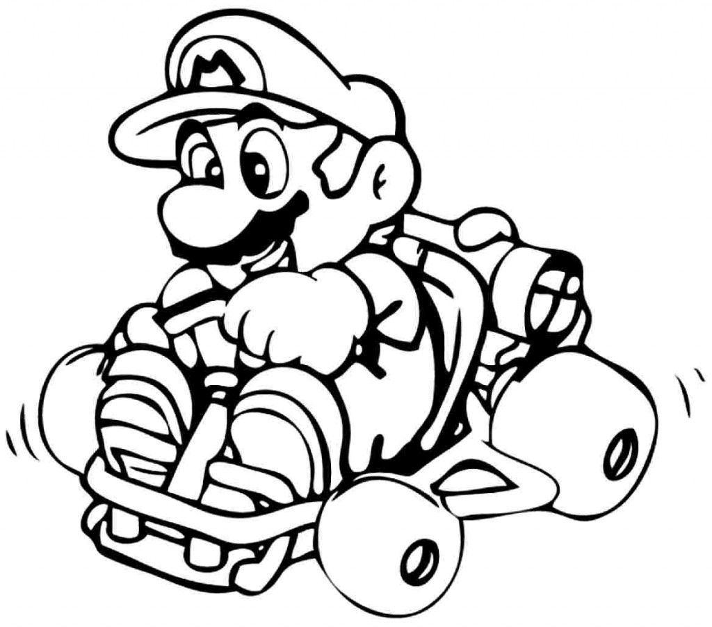 Colouring Pages Cartoon Super Mario Bros Printable For Preschool