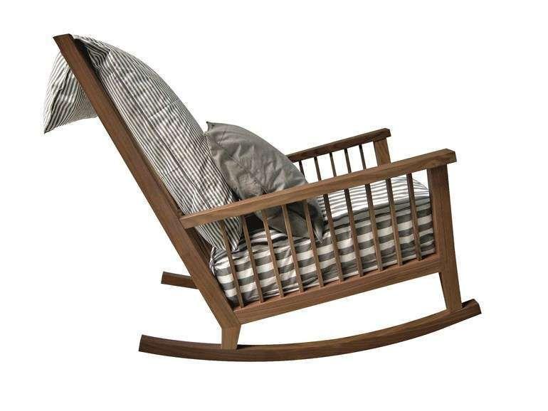 Gervasoni Sedie ~ Arredi da giardino in legno sedia a dondolo in legno gervasoni