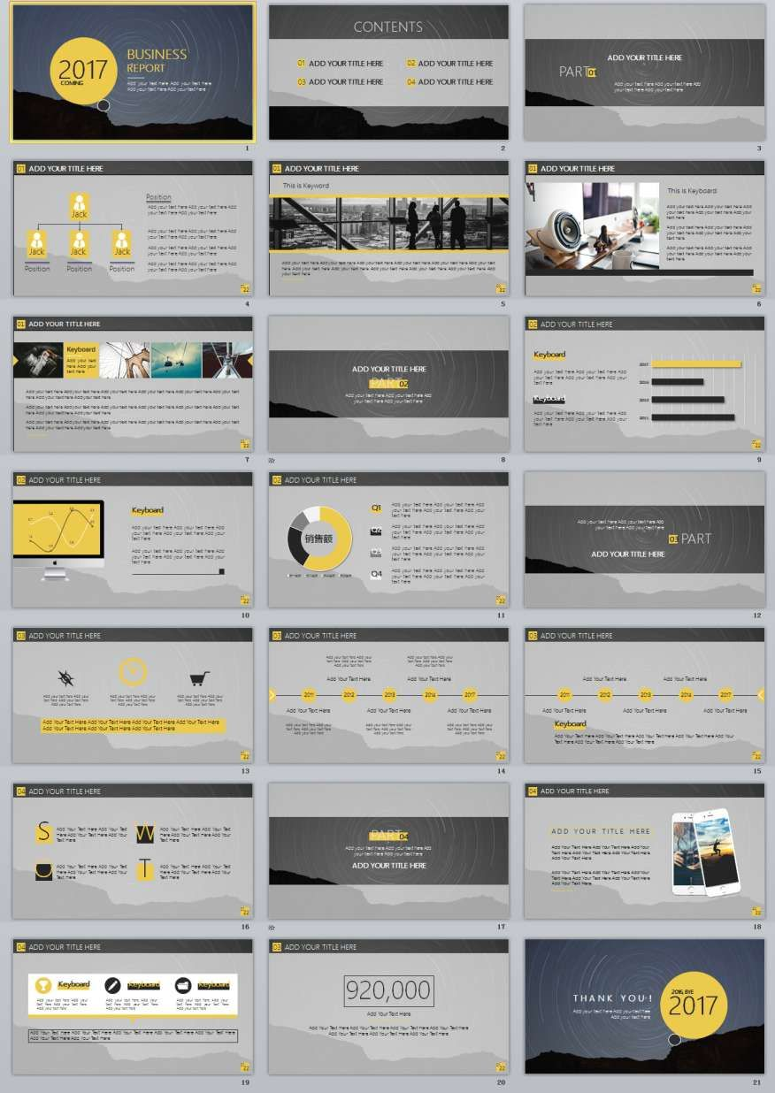 21 simple slide business powerpoint templates
