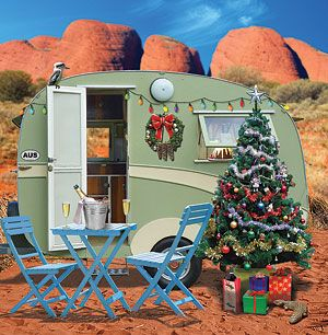 Christmas Camping Australia.Caravan Christmas In Central Australia Vintage Campers