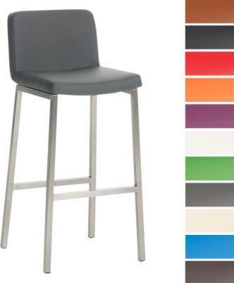Edelstahl-Barhocker VAGOS, Sitzhöhe 77 cm, bis zu 11 Farben wählbar - edelstahl outdoor küche
