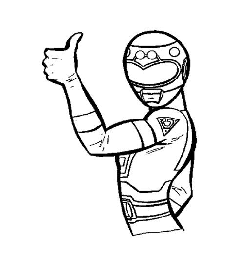 Power Rangers Turbo Is A Great Woman Coloring Page For Kids