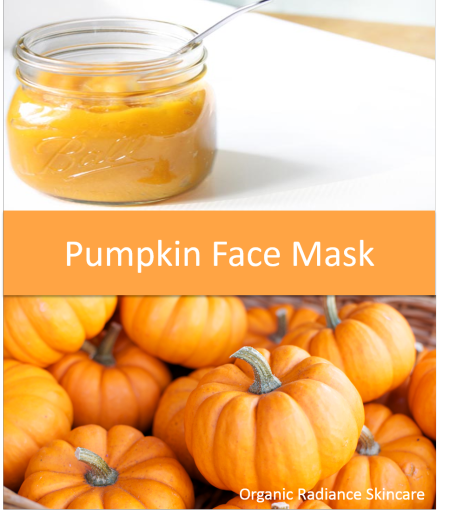 Homemade Pumpkin Face Mask Recipe for Dry or Oily Skin, Breakouts, Acne, Sensitive Skin from Organic Radiance Skincare.    For oily skin: 2 tablespoons freshly cooked or canned pumpkin   1 teaspoon honey   1 teaspoon apple cider vinegar   1 egg yolk