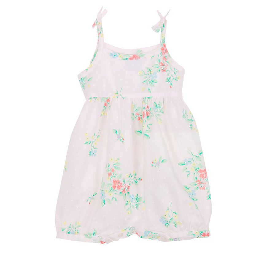 """BABY GIRL SHORT COVERALL IN A """"SPRING"""" PRINT"""