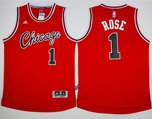 chicago bulls 1 derrick rose red hardwood classics performance stitched nba jersey
