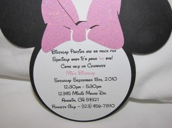 Minnie Mouse Birthday Invitation Wording My Birthday – Minnie Mouse 2nd Birthday Invitation Wording
