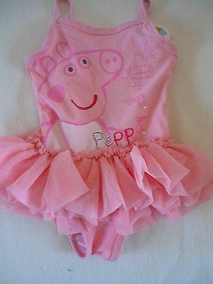 Girls Peppa Pig Tutu Swimming Costume Ex Top Store 12mths To 6