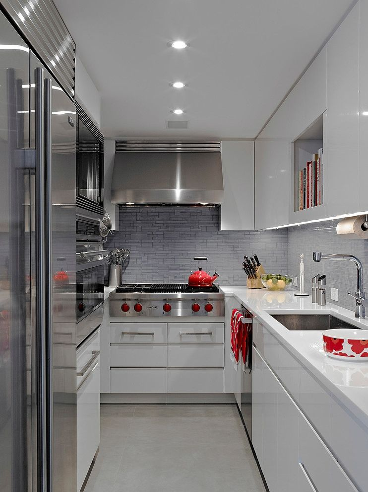 Small Apartment Galley Kitchen nyc apartmentmichel arnaud. i love the design of small spaces