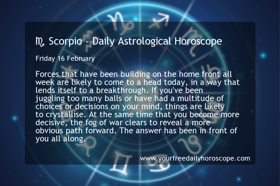 astrology february 16 scorpio or scorpio