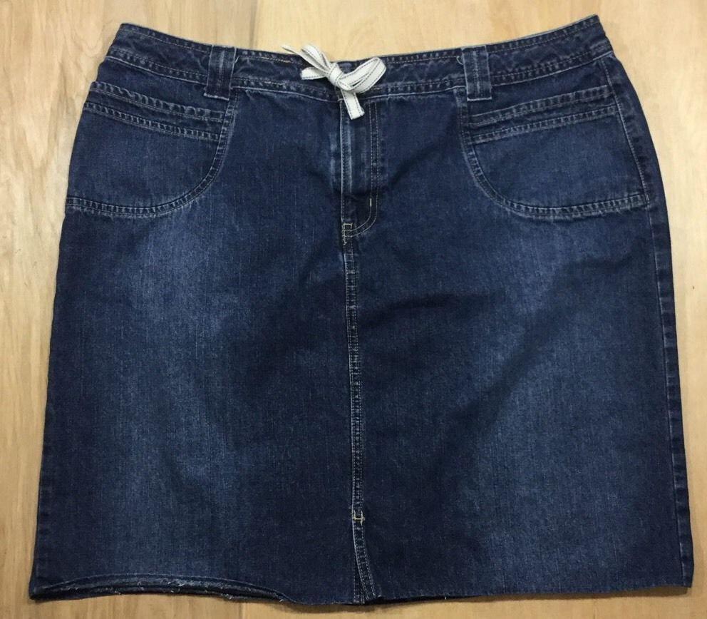 aaf0e2296 Venezia Lane Bryant A-Line Classic Modest Denim Skirt Size 18 #Venezia  #ALine