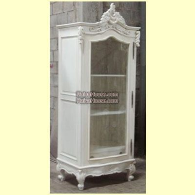 French Armoire 1 Door With Glass Door Rar 022 Gs Refrence Rar