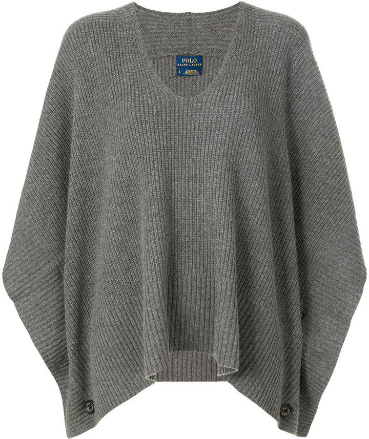 Polo Ralph Lauren v-neck cape jumper #ad