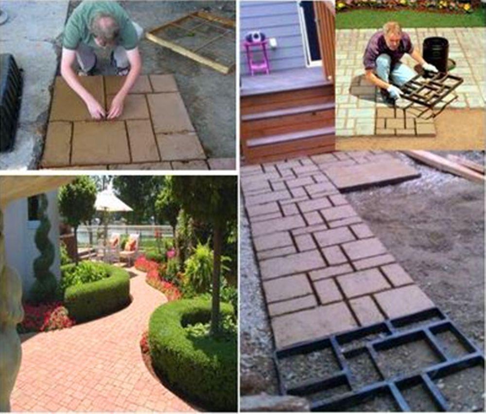 60*50*5cm BIG Garden DIY Plastic Path Maker Mold Road